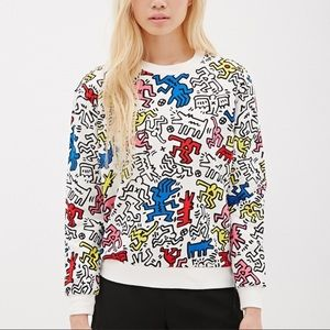 F21 Keith Haring sweater limited edition size med